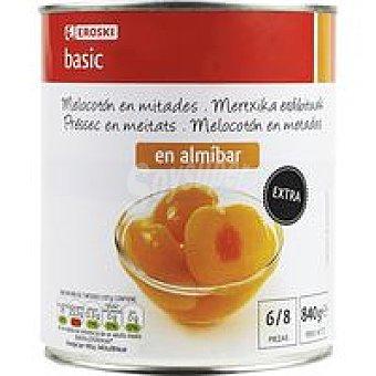 Eroski Basic Melocotón en almíbar Lata 480 g