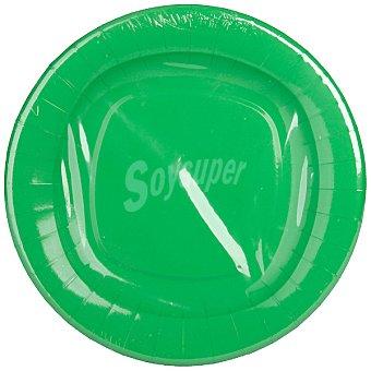 NV CORPORACION Plato color verde 23 cm Paquete 8 unidades