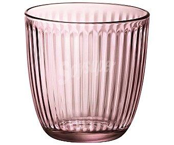 BORMIOLI Line Acqua Pack de 6 vasos de vidrio color rosa, 0,29 litros, Line Acqua BORMIOLI. Pack de 6 vaso