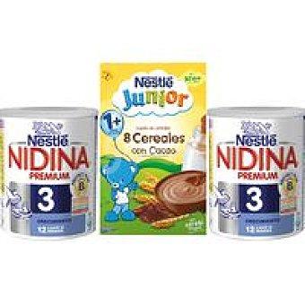 Nidina Nestlé Lote 2 3 +Papilla 800g