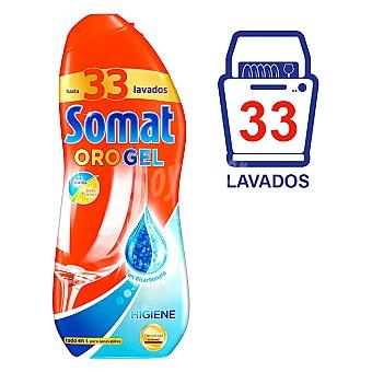 SOMAT detergente lavavajillas Oro gel Higiene con bicarbonato con poder limpiador & acción higiénica botella 33 dosis