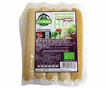 Nicklas Salchichas de tofu de cultivo ecológico ahumadas 200 gramos