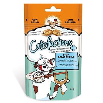 Catisfactions Snack de pollo para gatos control bolas de pelo Bolsa 60 gr