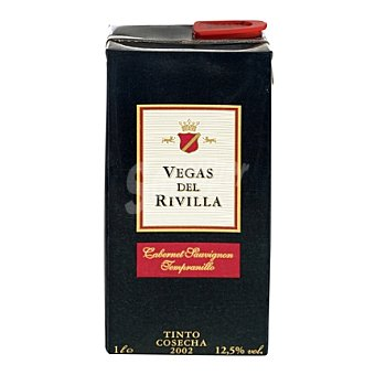 Vegas del Rivilla Vino tinto de la Tierra de Extremadura 1 l