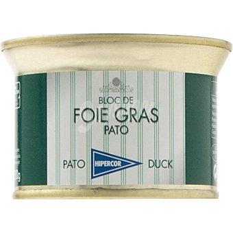 Hipercor Bloc de foie gras de pato lata 130 g Lata 130 g