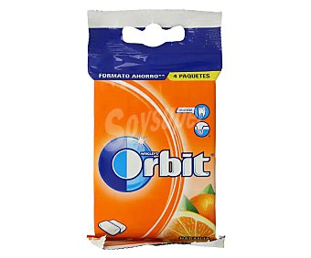 Orbit Chicles sabor a naranja 4 barritas. 56 g