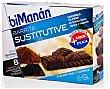 Barritas sustitutive chocolate negro fondant 8 ud Bimanan