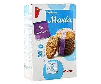 Auchan Galletas maría sin azúcares añadidos y con edulcorantes Paquete de 400 gramos