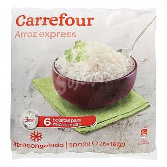 Carrefour Arroz blanco precocido Pack de 6 unidades de 167 g
