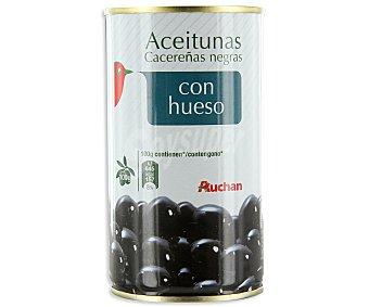 Auchan Aceitunas negras con hueso Lata de 200 gramos