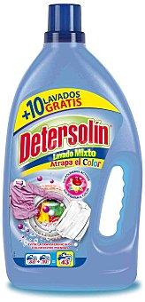 Detersolin Detergente líquido lavado mixto Garrafa 33+10 dosis