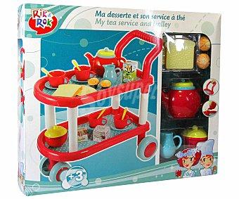 Rik&Rok Auchan Carrito de Te con Accesorios 1 Unidad