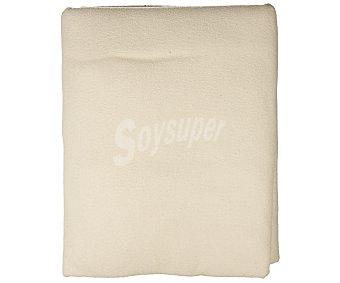 Auchan Funda rizo 100% algodón, elástica y antibacterias, para colchones de 105 centímetros 1 unidad