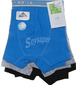 Tex Boxer liso algodón lycra niño Pack 3 unidades