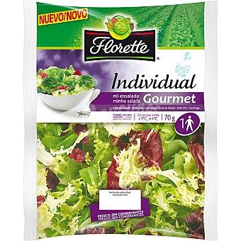 Florette Ensalada individual Gourmet con escarola, canónigo y radiccio Bolsa 70 g