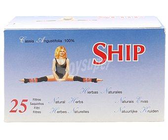 SHIP Infusión de mezcla de hierbas naturales (cassia,angustifolia) 25 filtros