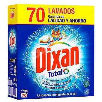 DIXAN Total Detergente en polvo Dixan Total 70 lavados