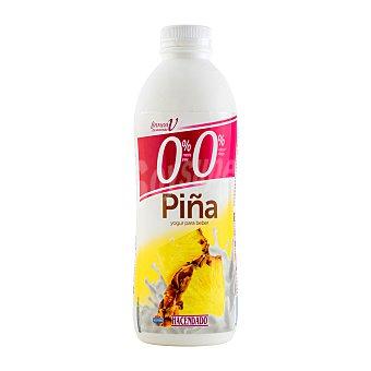 Hacendado Yogur líquido desnatado piña Botella de 1 L