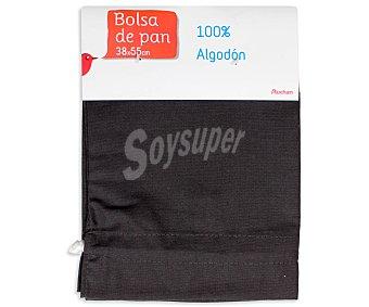 Auchan Bolsa de pan lisa, color gris oscuro, 38x55 centímetros 1 Unidad
