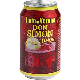 Don Simón Tinto de verano sabor limón Lata 33 cl