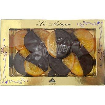 LA ANTIGUA DE LEÓN Discos de naranja bañados en chocolate  estuche 200 g