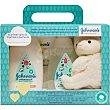 Pack Cotton Touch con gel de baño frasco 300 ml +loción corporal + toallitas envase 56 unidades + peluche oveja Frasco 300 ml Johnson's Baby