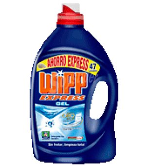 Wipp Express Detergente liquido azul Botella de 47 lavados