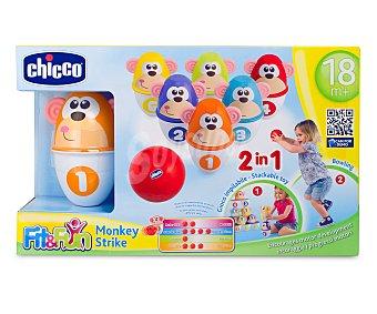 Chicco 6 Bolos decorados con caras de monos de diferentes colores y números del 1 al 6 1 Unidad