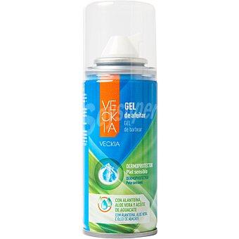 Veckia gel de afeitar dermoprotector con alantoína aloe vera y aceite de aguacate piel Sensible Spray 75 ml