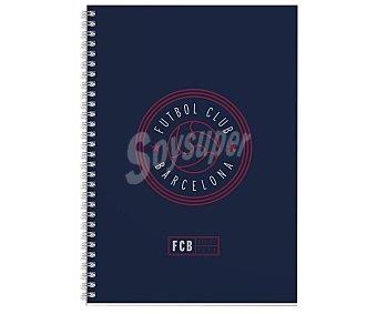 Fc barcelona Cuaderno A4 con cuadrícula de 5x5mm de tapa dura, diseño de color azul oscuro, grupo erik