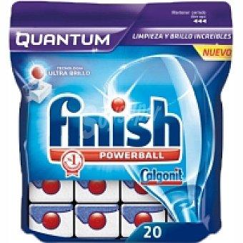 Finish Quantum Lavavajillas máquina Bolsa 20 dosis