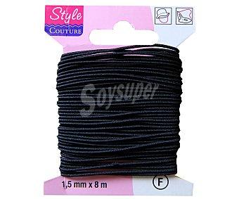 STYLE Hilo redondo elástico color negro, 8 metros 1 Unidad