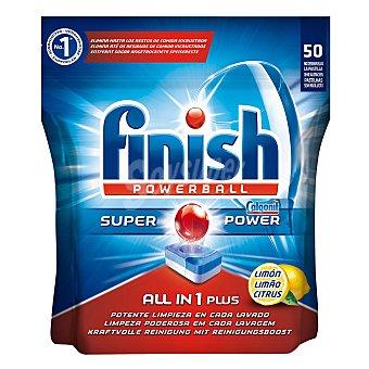 Finish Lavavajillas máquina todo en 1 Limón 50 ud