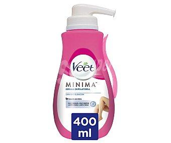 Veet Crema depilatoria, especial pieles sensibles minima 400 ml