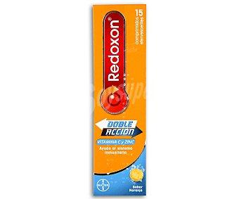 Redoxon Complemento alimenticio de vitamina C y zinc con sabor a naranja 15 comprimidos