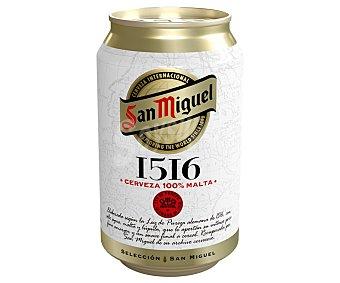 San Miguel Cerveza Premium 1516 Lata de 33 cl