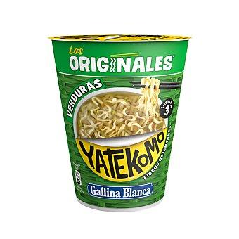 Yatekomo Gallina Blanca Fideos orientales con sabor a verduras Vaso 60 g