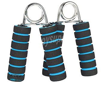 FYTTER Puños de fuerza con mangos de polietileno de color azul y negro 2 Unidades