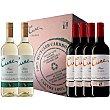 Vino tinto crianza doca Rioja 4 botellas + vino blanco doca Rioja 2 botellas 75 cl Cune