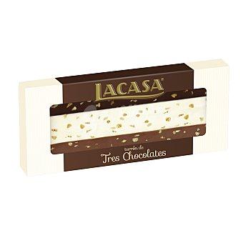 Lacasa Turrón de tres chocolates estuche 250 gr Estuche 250 gr