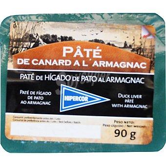 Hipercor Paté de pato al armañac envase 90 g Envase 90 g