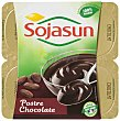 Postre fresco a base de soja con chocolate Plaisir Pack 4 envase 100 g Sojasun