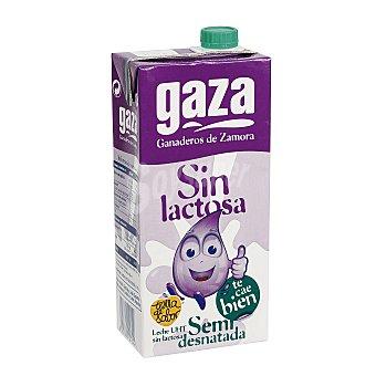 Gaza Leche semidesnatada sin lactosa Envase 1 lt