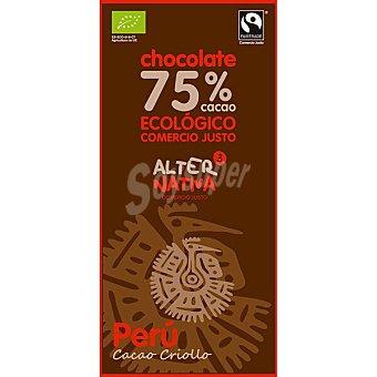 Alternativa 3 Chocolate negro Peru 75% cacao ecologico y comercio justo tableta 80 g