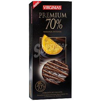 Virginias Galleta bañada de chocolate premium 70% y chocolate a la naranja 120 g