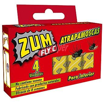ZUM Fly C Insecticida en tiras atrapamoscas para interiores no contiene veneno Caja 4 unidades