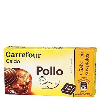 Carrefour Caldo de pollo en pastillas 108 g