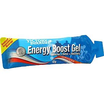 suplemento deportivo en gel energético sabor naranja