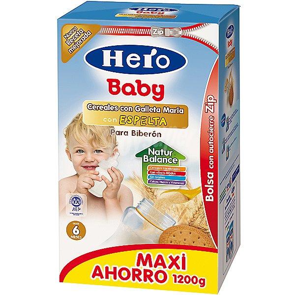 Hero Baby cereales para biberón con galleta María con ...