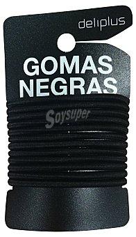 Deliplus Goma cabello metalica grande ( 6 blanco - 6 negro) Paquete 12 unidades